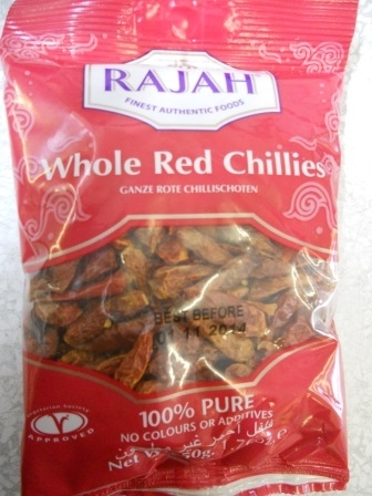 Rajah指天椒Rajah Whole Red Chillix50g