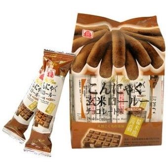 北田蒟蒻糙米卷-巧克力*160克/PT-Konjac Brown Rice Roll - Chocolate 12x160g