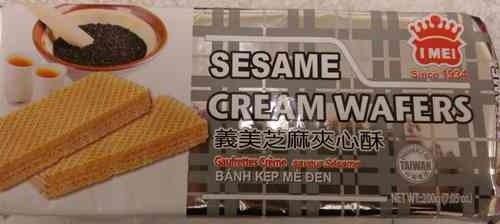 义美芝麻夹心酥*200g/Sesame Cream Wafers*200g
