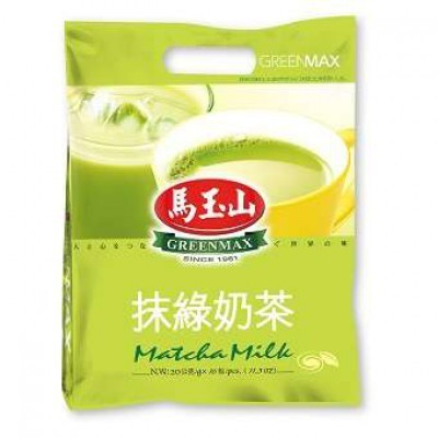 马玉山-抹茶奶茶 / Greenmax - Matcha Milk 16x20g 缺货
