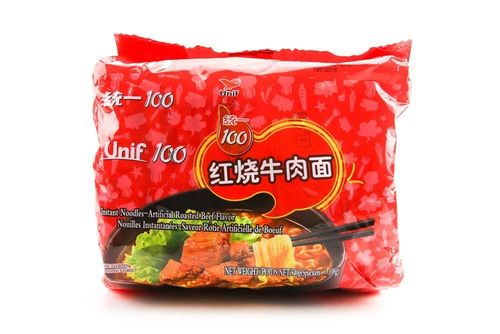 统一红烧牛肉面5连包/UNI Noodles (5 packs) - Roasted Beef