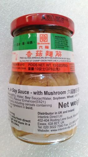 六福面筋-香菇 SF F/Gluten in S/S -Mushroomx375g