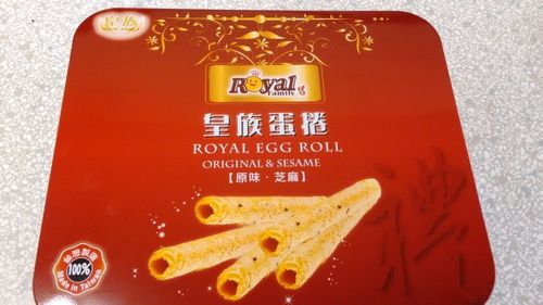 皇族新铁盒蛋卷(原味&芝麻) 480g RF Mixed Egg Roll (Original & Sesame) 480g
