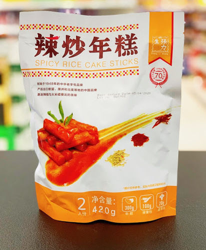 张力生韩式辣炒年糕 420g ZLS Korea Spicy Rice Cake Stick*420g